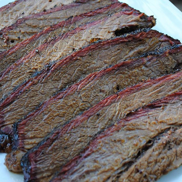 Brisket flat used for testing cooking method
