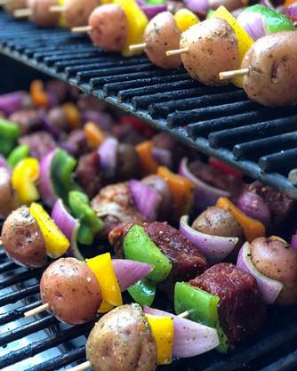 Last nights kebabs just after I put them on the _traegergrills Timberline 850_•_•_•_•_•__traegergrills _traegerbbq _traegeroutdoors _traeger