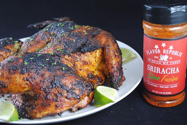 Flavor Republic Sriracha Lime Spatchcock Chicken