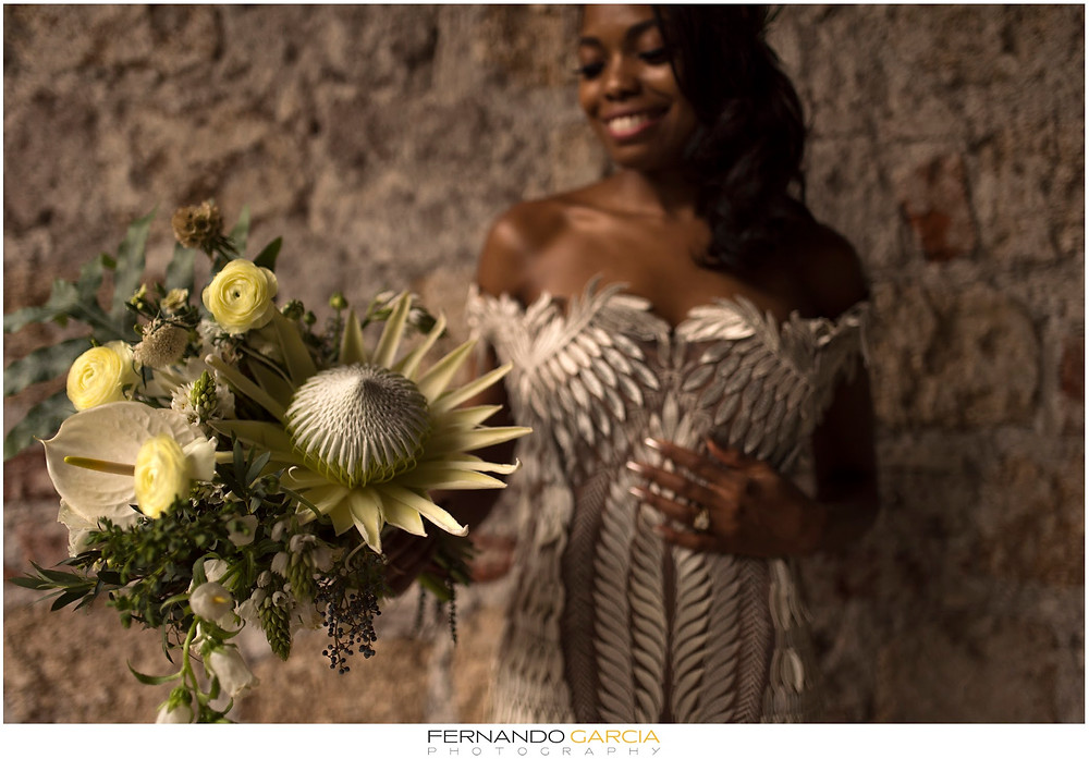Bouquet with Protea, Casa Delirio. Photo by Fernando Garcia