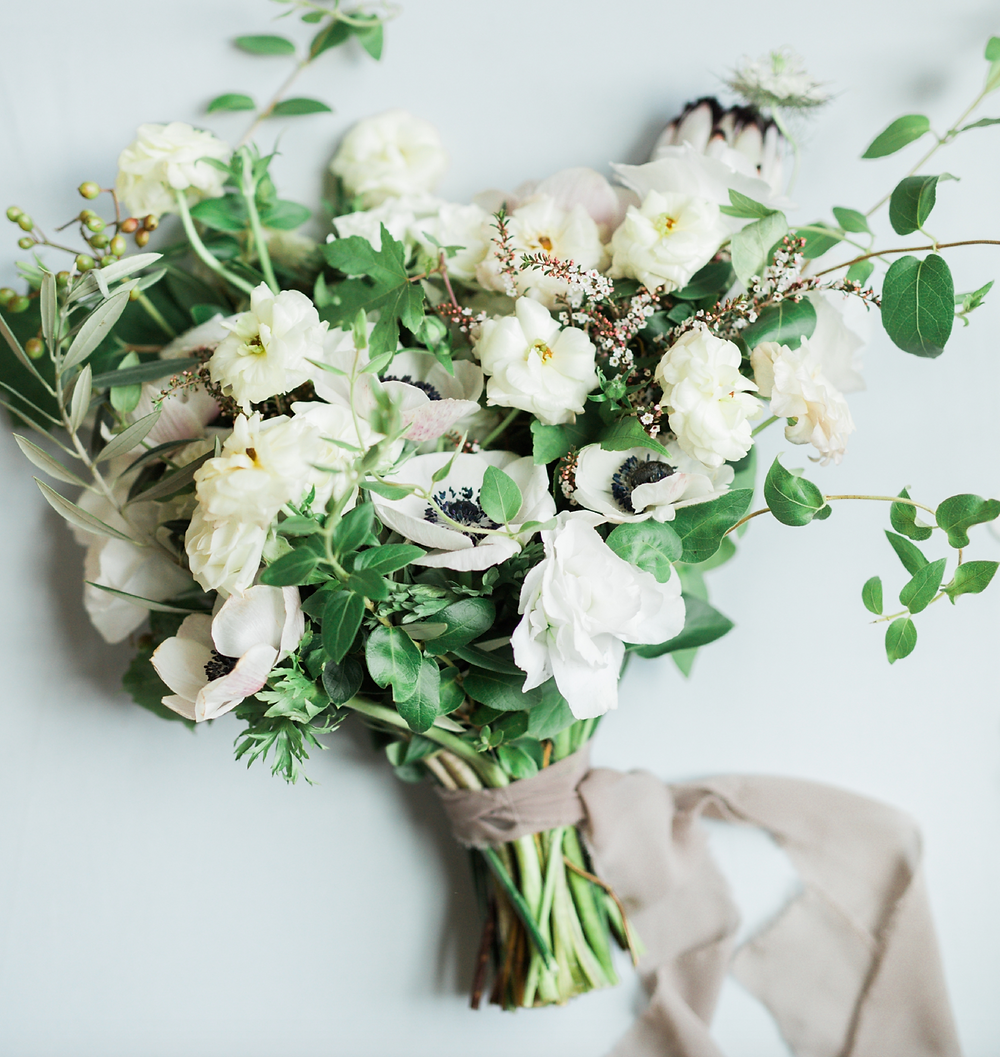 Casa Delirio bridal bouquet with anemones