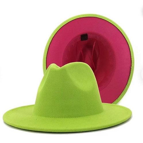 Green/Pink Fedora