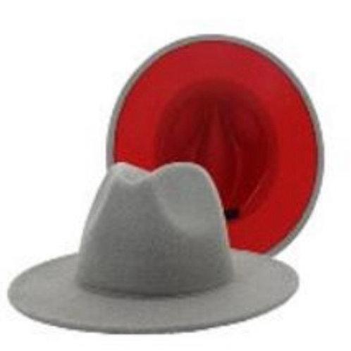 Red Bottom Fedora Gray