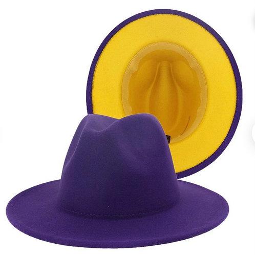 Purple/Yellow Fedora