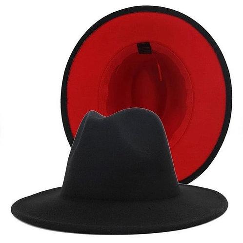 Red Bottom Fedora Black