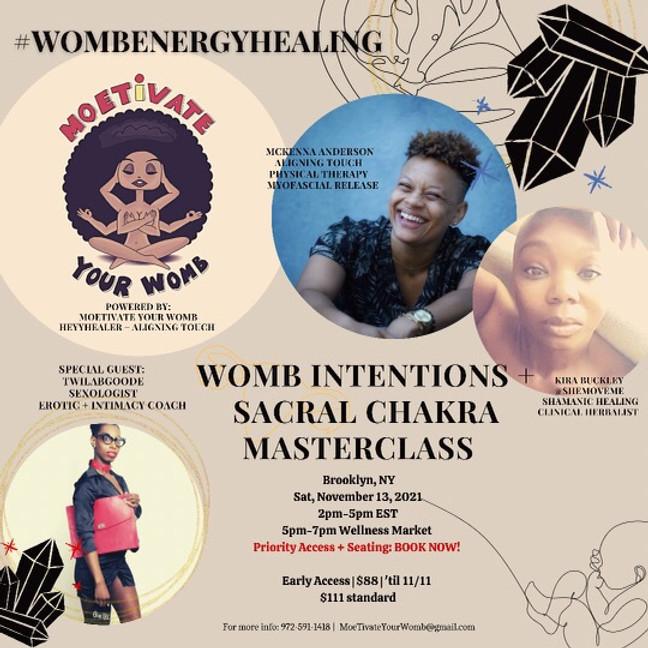 NYC Womb Intentions + Sacral Chakra Masterclass