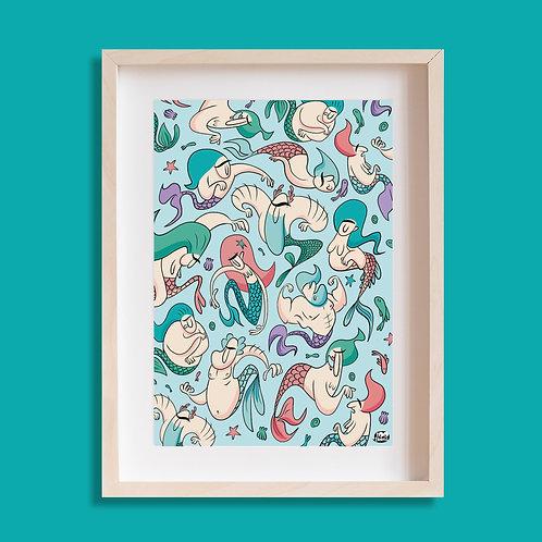 Tableau cartoon Tootoons, modèle Sirènes