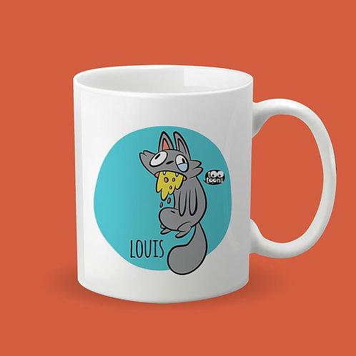 Mug Céramique cartoon Tootoons, modèle Chat malade, texte personnalisable