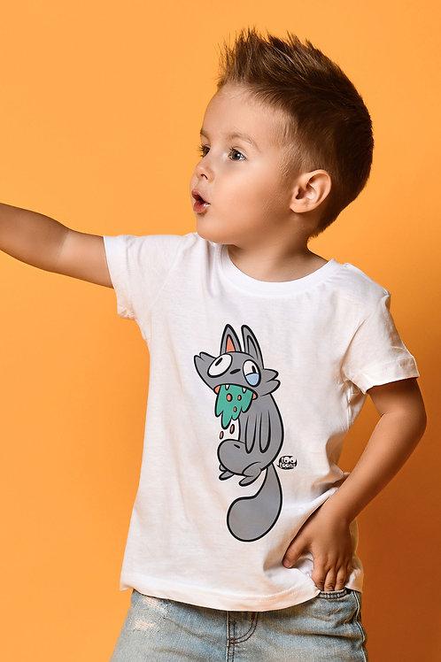 Tee-shirt Enfant et Ado personnalisable Vomito Cat - 2 taille d'illustration