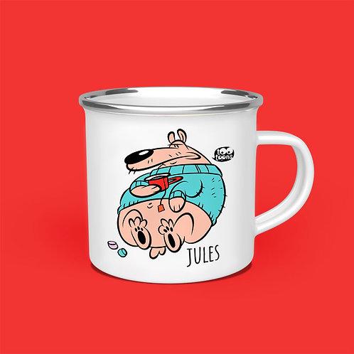 Mug vintage Tootoons 480 ml, modèle Ours, texte personnalisable