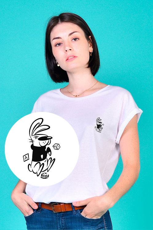 Tee-shirt Femme motif cartoon Tootoons, modèle Lapin