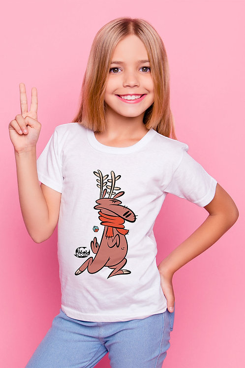 Tee-shirt Enfant et Ado personnalisable Reindy - 2 tailles d'illustration