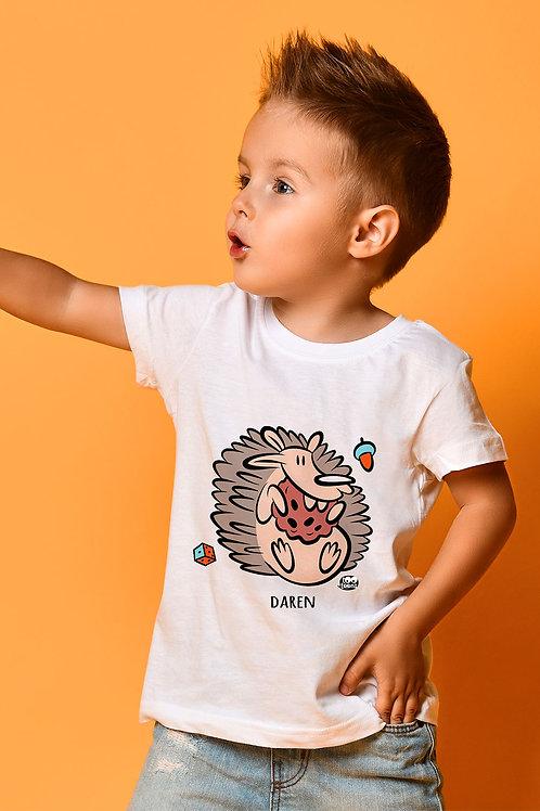Tee-shirt Enfant/Ado Tootoons, modèle Hérisson, texte personnalisable