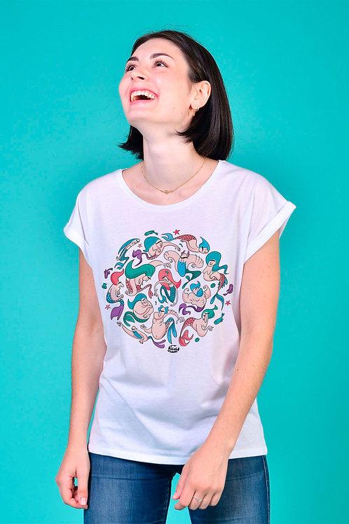 Tee-shirt Femme Sirenos rond