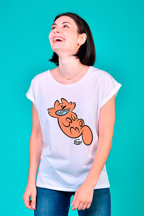 Tee-shirt Femme personnalisable Ontheback Orange Cat - 2 tailles d'illustration