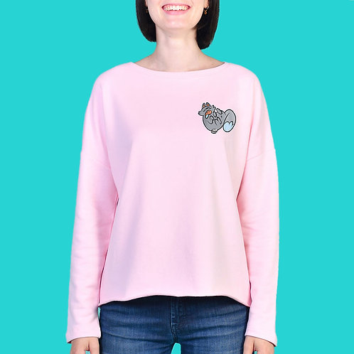 Sweat Femme Tootoons, modèle Chat relax, texte personnalisable