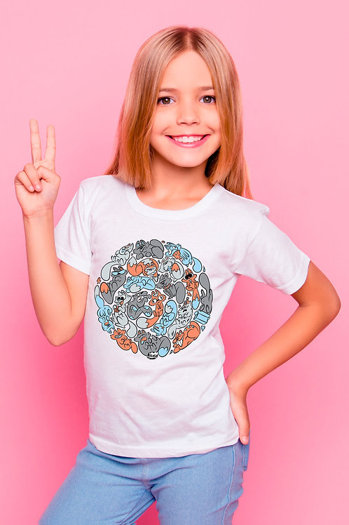 Tee-shirt Enfant et Ado Grey Cats