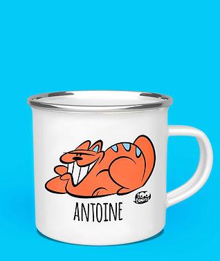 Mug métal vintage ou céramique personnalisable cartoon Tootoons