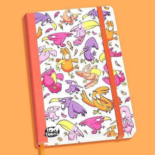 Carnet cartoon Tootoons, modèle Oiseaux