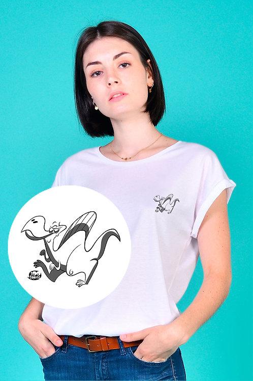 Tee-shirt Femme motif cartoon Tootoons, modèle Dinosaure