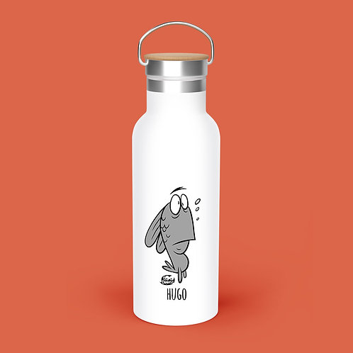 Gourde cartoon Tootoons 500ml, Poisson ahuri N/B, personnalisable