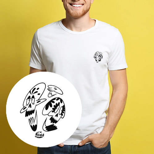 Tee-shirt Homme motif cartoon Tootoons, modèle Crânes, col rond