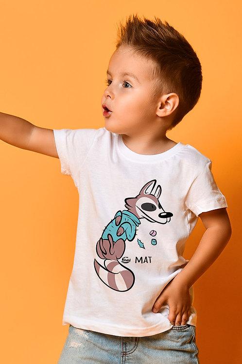 Tee-shirt Enfant/Ado Tootoons, modèle Raton laveur, texte personnalisable