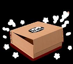Coffret cadeau déco cartoon dans une boîte carton recyclable