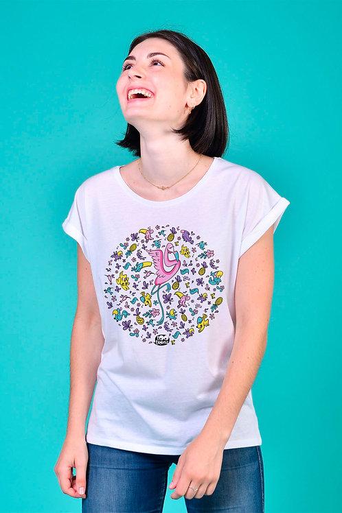 Tee-shirt Femme Flamy rond