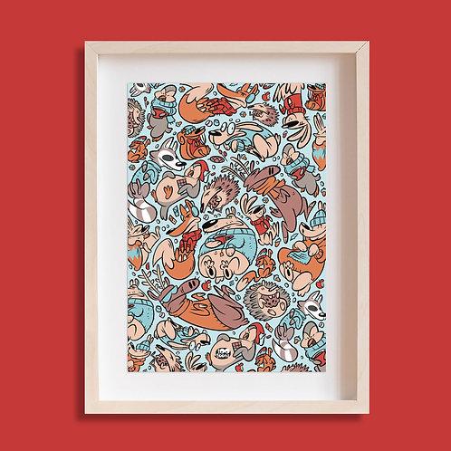 Tableau cartoon Tootoons, modèle Animaux de la forêt