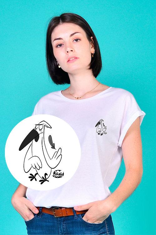 Tee-shirt Femme motif cartoon Tootoons, modèle Oiseau