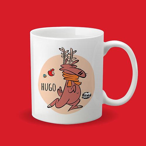 Mug Céramique cartoon Tootoons, modèle Renne, texte personnalisable