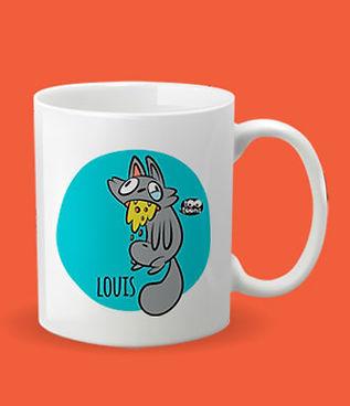 Mug céramique texte personnalisable motif cartoon Tootoons