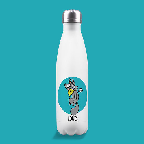 Gourde isotherme Tootoons 500 ml, Chat malade, texte personnalisable