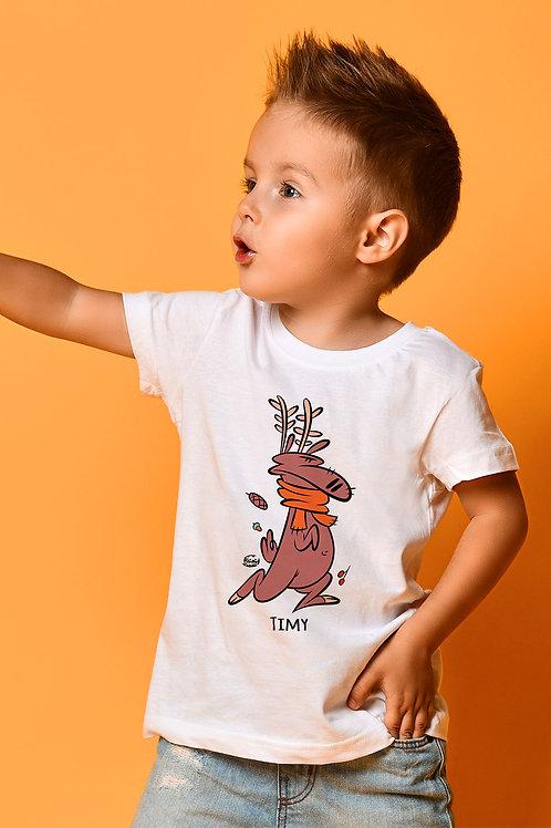 Tee-shirt Enfant/Ado Tootoons, modèle Renne, texte personnalisable