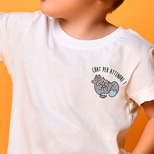Tee-shirt enfant et ado motif cartoon texte personnalisable Tootoons