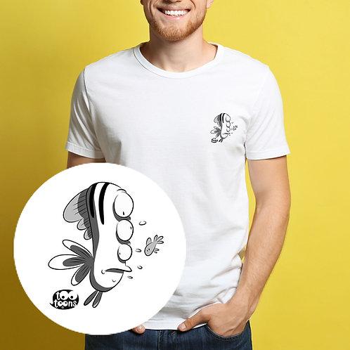 Tee-shirt Homme motif cartoon Tootoons, modèle Poisson étrange, col rond