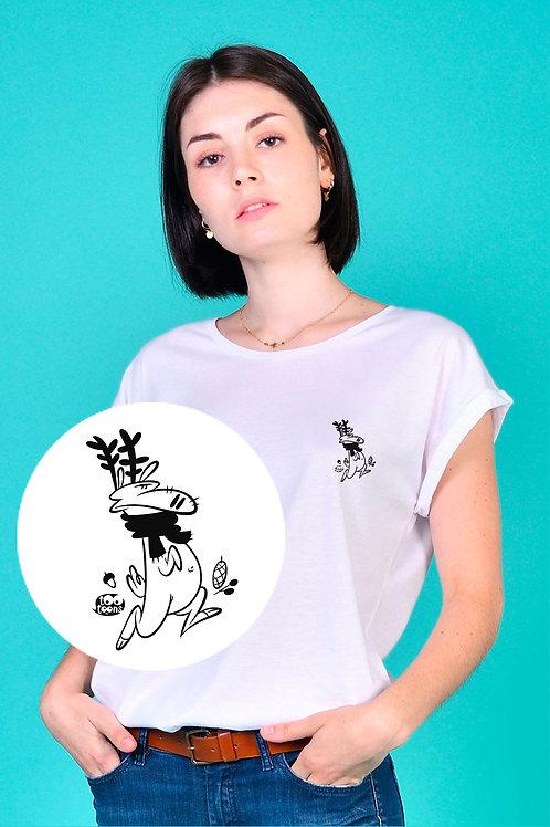 Tee-shirt Femme motif cartoon Tootoons, modèle Renne