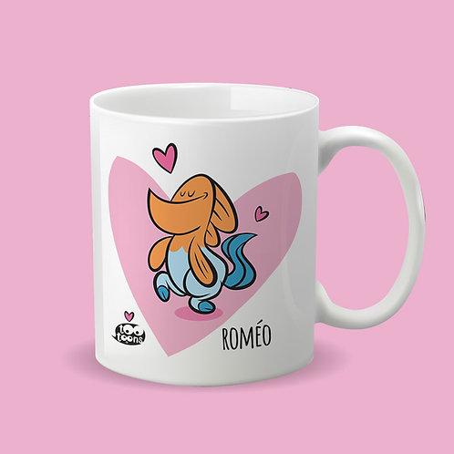 Mug Céramique cartoon Tootoons, modèle Poisson/Licorne, texte personnalisable