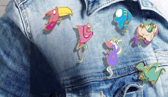 Pins motif cartoon Tootoons pas cher