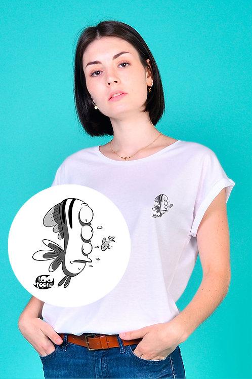 Tee-shirt Femme motif cartoon Tootoons, modèle Poisson étrange