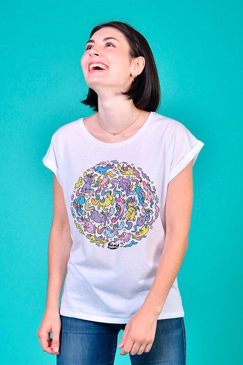 Tee-shirt Femme Licorn rond
