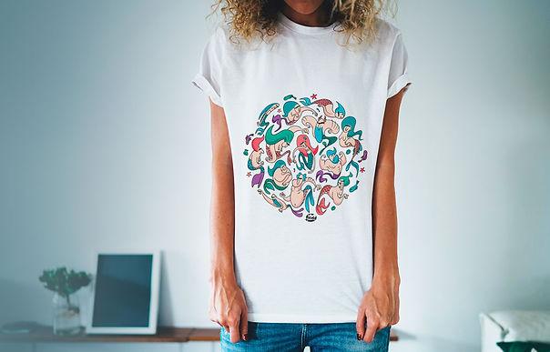 Tee-shirts femme personnalisable jolie coupe motif cartoon Tootoons