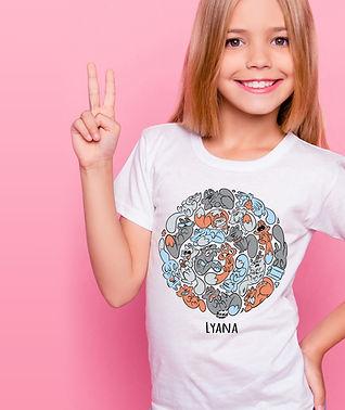 Tee-shirt enfant coton bio personnalisables cartoon tootoons