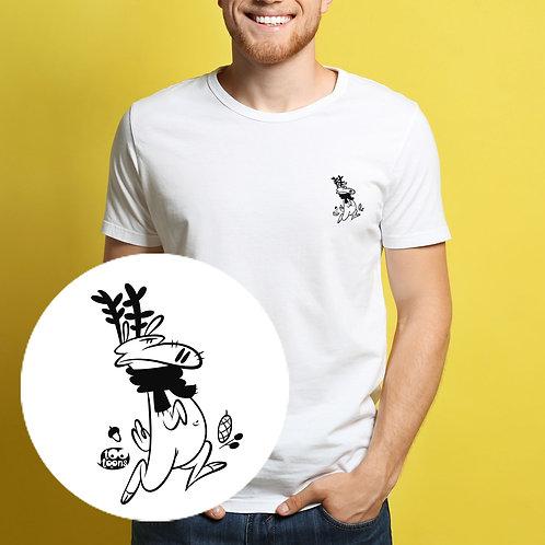 Tee-shirt Homme motif cartoon Tootoons, modèle Renne, col rond