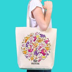 Cadeau sac tote-bag pas cher personnalisable cartoon Tootoons