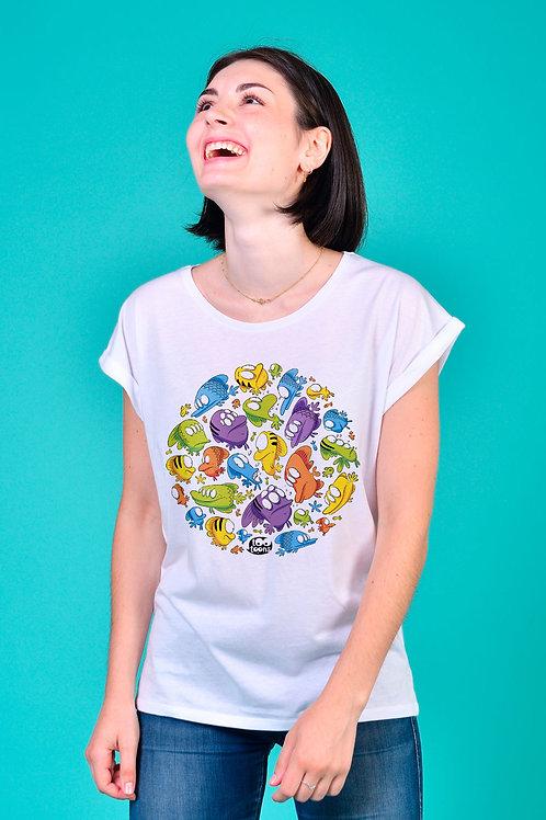 Tee-shirt Femme Fishy rond