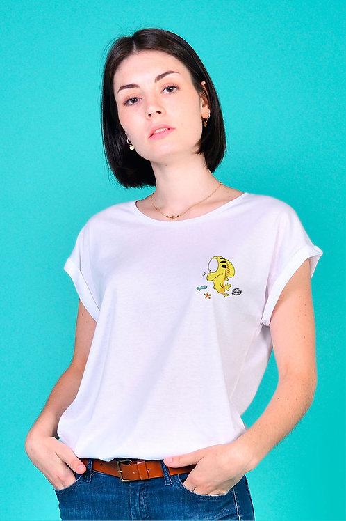 Tee-shirt Femme Tootoons, modèle Poisson, texte personnalisable
