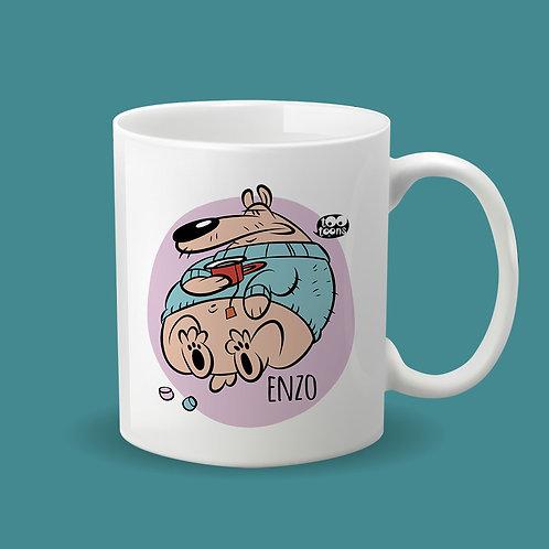 Mug Céramique cartoon Tootoons, modèle Ours, texte personnalisable