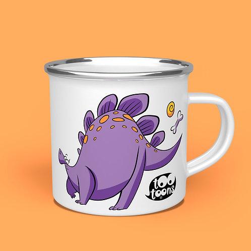 Mug Vintage Métal Dino - 2 Toon's